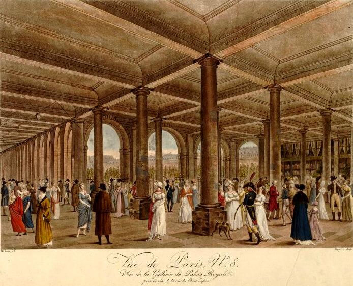 Pierre Charles Coqueret – Palais Royal à Paris / Public domain
